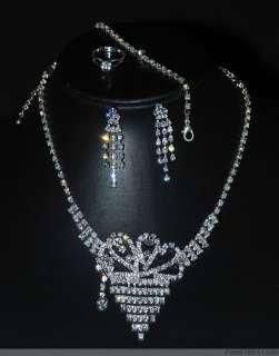 Set Fashion Style Crystal Rhinestone Necklace