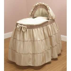Baby Doll Bedding Cappuccino Bassinet Set, Coffee Baby