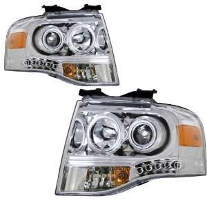 2007 2008 Ford Expedition KS Chrome Halo Projector