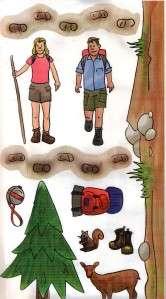 Hiking   Skiing*MEMORIES ETC STICKERS Jumbo Sheet 6x13