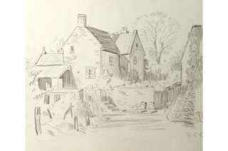 Holloway Bristol Savages Farm Buildings Sketch Drawing