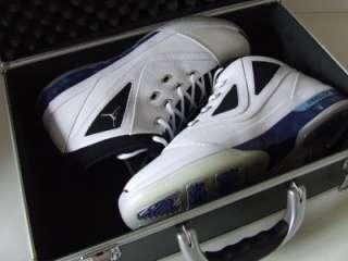 With Suitcase Carry Case RARE White Blue Black UK 10 EU 45