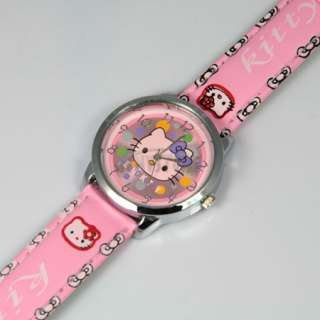 Pink cute lovely colorful Hellokitty Quartz Wrist Watch Kids Children