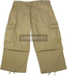 Military BDU Capri Rip Stop Fatigue Pants