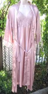 Vintage Victorias Secret Satin and Lace Nightgown, Gown and Robe Set