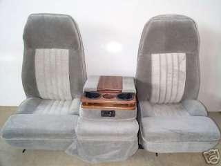 88 98 CHEVY/GMC 40/20/40 GRAY CLOTH BUCKET SEATS