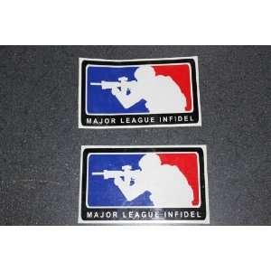 SET of 2  Major League Infidel Car Decal / Sticker MLI