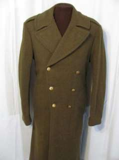 vintage 1942 US ARMY ENGINEERS 40s WWII WOOL TRENCH COAT OVERCOAT