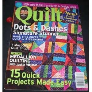 Quilt April/May 2006 (No. 63): Deb Moffet Hall: Books