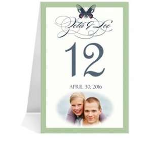 Photo Table Number Cards   Butterfly Moss Spice Dream #1