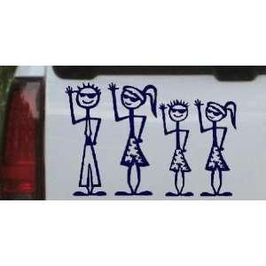 Cool Waving 2 Kids Stick Family Stick Family Car Window Wall Laptop