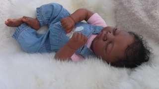 Girl Ethnic Biracial Doll Sculpt Alina Adrie Stoete Fake Baby