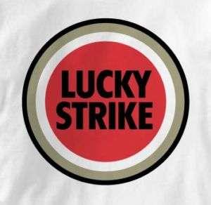 Lucky Strike Retro Logo Smokes Pop Art T Shirt XL
