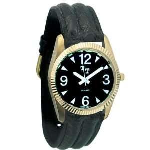Tel Time Low Vision Watch Mens with Leather Band Health