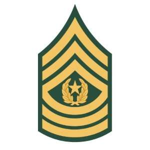 U.S. Army command sergeant major rank insignia sticker