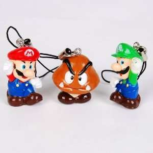Super Mario Bros. Mushroom Mobile Cell Phone Strap Cell