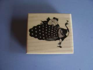 ABRACADABRA RUBBER STAMPS PEACOCK WITH FLOWERS STAMP