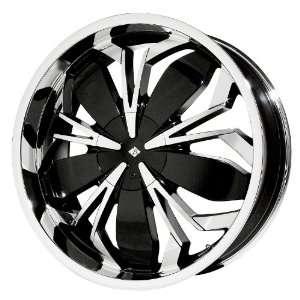 Black Ice Alloys Black Widow Black Wheel with Chrome Finish (20 x7.5)