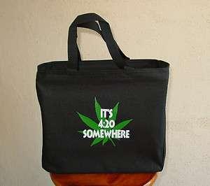 20 SOMEWHERE Essential Tote Bag Marijuanna Pot Cannabis Weed Hemp 420