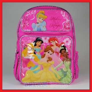 14 Disney Princess Magic School Backpack Bag/Book/Girl