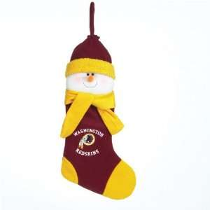 Washington Redskins NFL Snowman Holiday Stocking (22