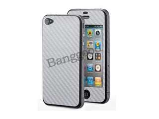 For iPhone 4 4S 4G Carbon Fiber Skin Adhesive Sticker FULL BODY Cover