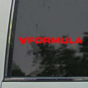 Formula Red Decal THUNDERBIRD Car Truck Window Red Sticker