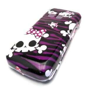 Samsung R451c Purple Baby Emo Punk Skull Design Skin Cover