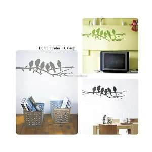 DIY Home Décor 100*30cm PVC Wall Decal Sticker Silver