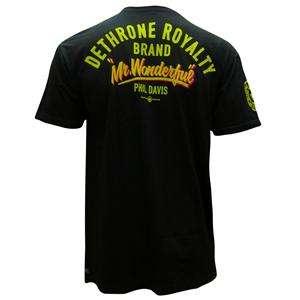 DETHRONE ROYALTY PHIL DAVIS BLACK UFC WALKOUT T SHIRT