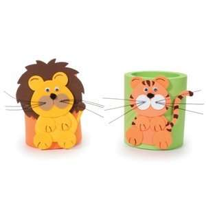 Lion & Tiger Foam Craft Kit (Makes 2) Toys & Games