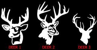 Deer Head / Hunter Hunting   Vinyl Decal Sticker ~}