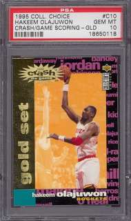 1995 CC Crash The Game Gold Hakeem Olajuwon PSA 10 pop3