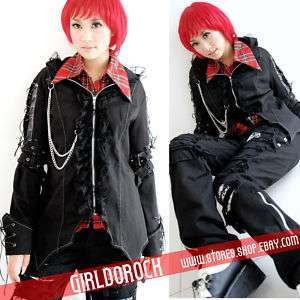 PUNK VISUAL KEI CLASSIC ROCK CHAIN COAT JACKET M