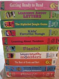 HUGE LOT 19 VHS Video SESAME STREET ELMOS WORLD BIG BIRD XMAS SONG
