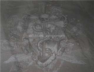 Alternative Goth Metal ROCK STEADY Gray Skull Shirt S