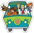 Scooby Doo Mystery Machine Sticker   3.5 x 3.5