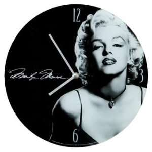 Marilyn Monroe Clock   Glass