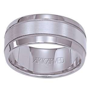 ARTCARVED TYSON Tungsten Carbide & 18k White Gold & Diamond Wedding