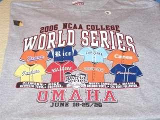 NCAA College Baseball 2006 WORLD SERIES Shirt M New NWT