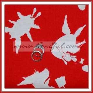 BOOAK Fabric Andover VTG Olivia Pig Girl Ballet Red White *Cotton