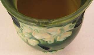 II Roseville Art Pottery 8 Vase ~ Green/White/Black ~ VG Condition