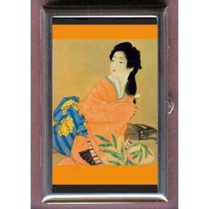 PRETTY JAPANESE GEISHA GIRL Coin, Mint or Pill Box Made