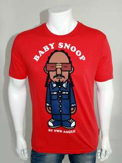 TWO ANGLE Mikany Baby Snoop Dogg Character Print T Shirt   Red   S M L
