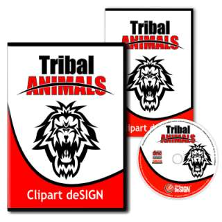 TRIBAL ANIMALS CLIPART  VINYL CUTTER CLIP ART VECTOR CD