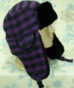 Child/Kid Aviator/Russian Winter Ear Flap Hat,Plaid,Checkered,# 198