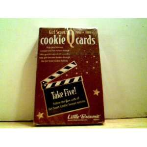 Cookie Q Cards   Take Five Follow the Five Acts of Girl Scout Cookie