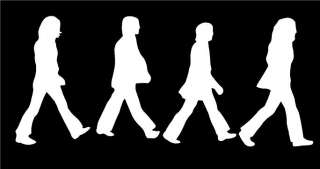 The Beatles Walking Car Vinyl Window Decal Sticker