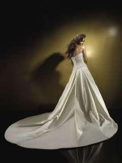 Gorgeous New A line Strapless White Wedding Dress Bridal Gown SZ 4 28