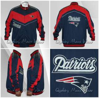 NEW ENGLAND PATRIOTS NFL WARM UP TRACK JACKET 2XL $90 100% AUTHENTIC